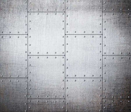 rivets: metal plates background Stock Photo