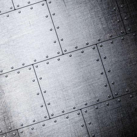 armoring: metal plates background Stock Photo