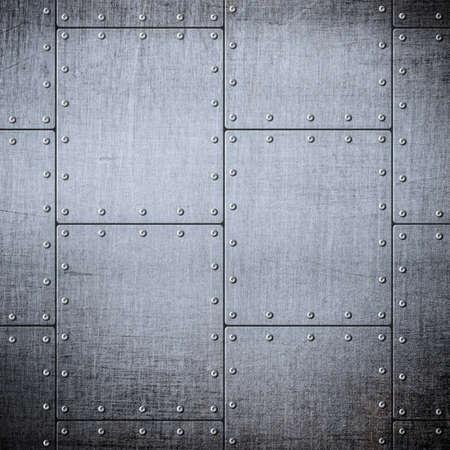 armoring: metal armor plates background
