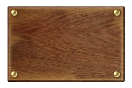 wooden plaque: Dark wood plate isolated with clipping path included