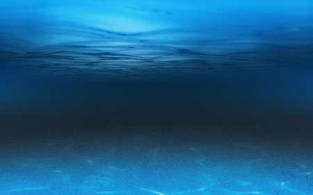 mer ou l'océan fond sous-marin