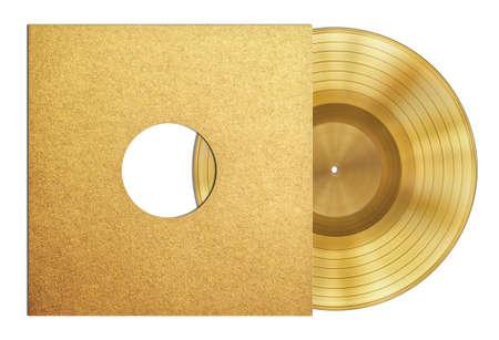 gouden plaat muziekdisk award mouw geïsoleerd