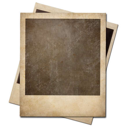 old photographs: Grunge instant photo polaroid frames isolated. Clipping path without shadows is included.