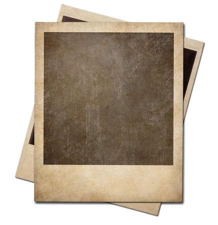 Grunge instant photo polaroid rámy izolované. Ořezové cesty bez stínů je v ceně.