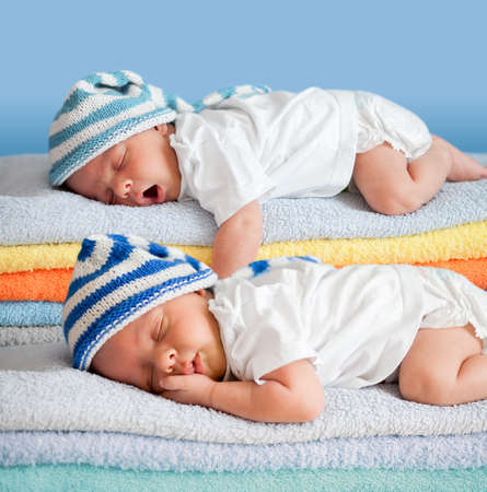 Two sleeping babies photo