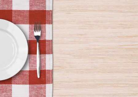 Dinner table setting top view. Dinning concept.