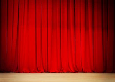 telon de teatro: Cortina roja de la etapa del teatro Foto de archivo