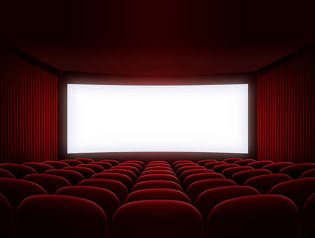 cinema screen for movie presentation photo