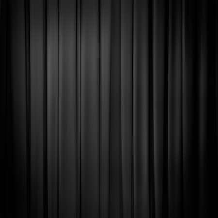 Vorhang oder drapiert schwarzen Hintergrund