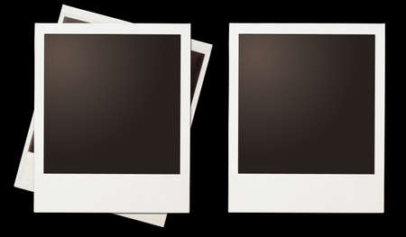 Vintage instant photo polaroid frames set isolated on black photo