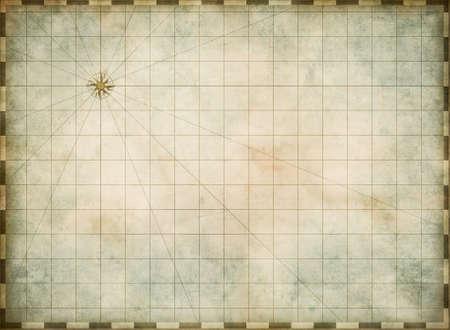 Leere alte Karte Hintergrund Standard-Bild - 27670053