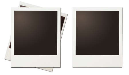 retro instant photo polaroid frames isolated on white Archivio Fotografico
