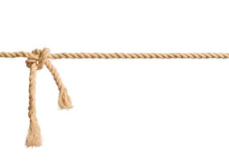 Nodo della corda su bianco Archivio Fotografico - 27761430