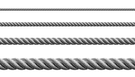 steel: Steel metal hawser set isolated