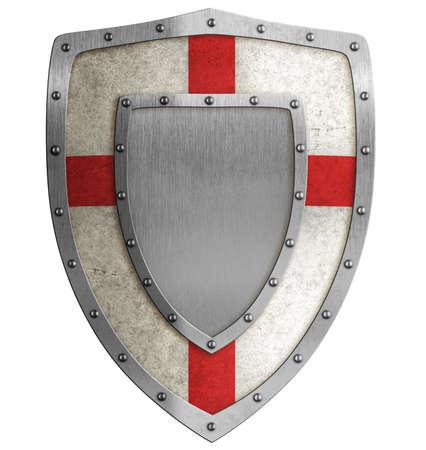 medieval escudo ilustración cruzado Foto de archivo