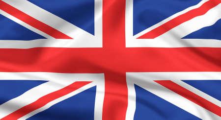 Flag of The United Kingdom  Union jack or Union flag  Stock Photo