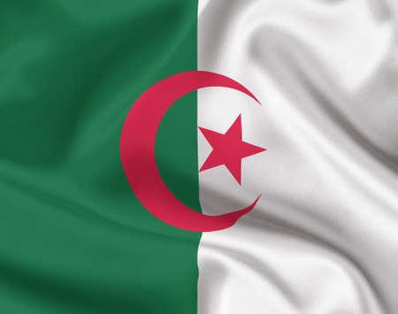 algeria: Flag of Algeria Stock Photo