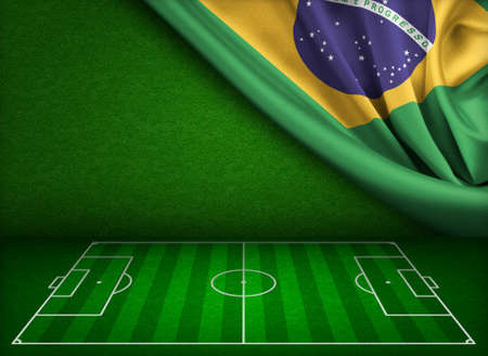 kick out: Soccer cup in Brazil concept