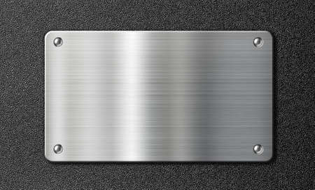 stainless steel sheet: stainless steel metal plate over black texture