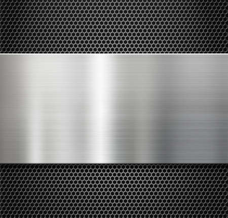 steel metal plate over comb grate background photo