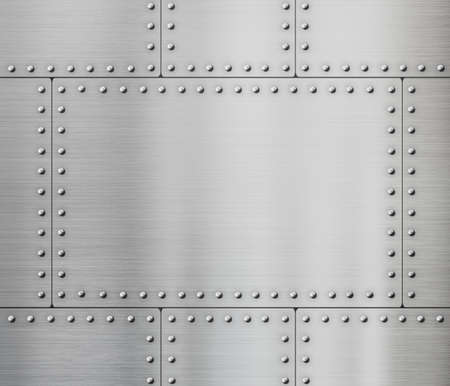 steel background: metal plates with rivets background