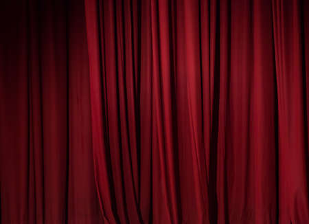 theater red curtain background Stock Photo