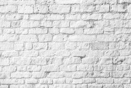 Witte bakstenen muur Stockfoto