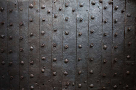 Old medieval metal gate background photo