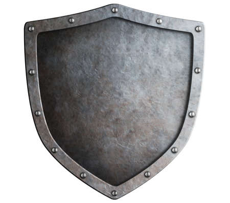 metal shield isolated photo