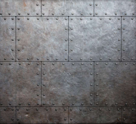 metal armor plates background
