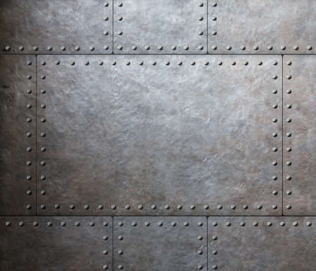 metal textures: metal armor plates  Stock Photo