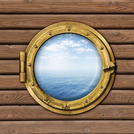 ship or boat porthole photo