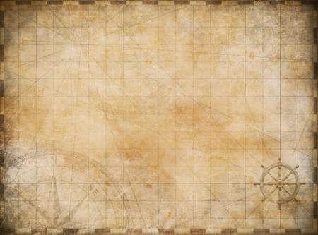 carte tr�sor: vieux fond de carte Banque d'images