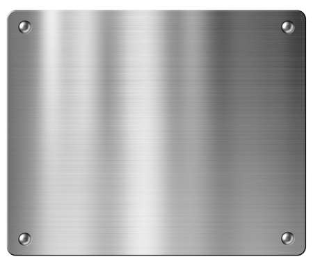 metal plate: metal plate background Stock Photo