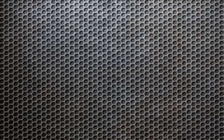 grunge metallic grid or grille background photo