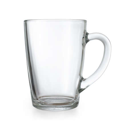 included: Glass cup isolated with clipping path included Stock Photo