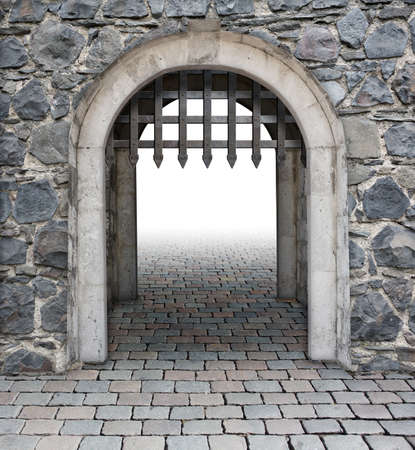 Medieval castle main enter or gate