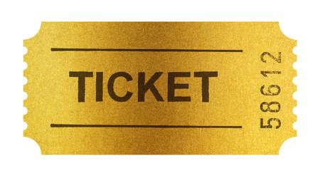 ticket stubs: Golden ticket isolated on white