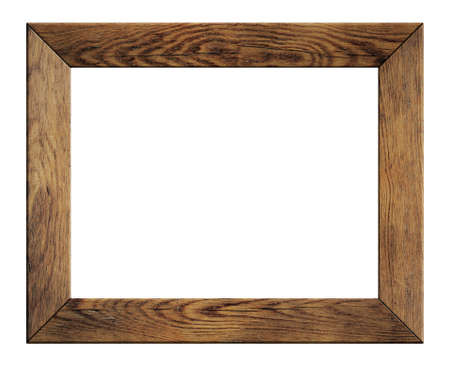 timber frame: old wood frame isolated on white