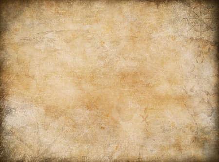 antiek behang: De oude kaart van de exploratie en avontuur achtergrond Stockfoto