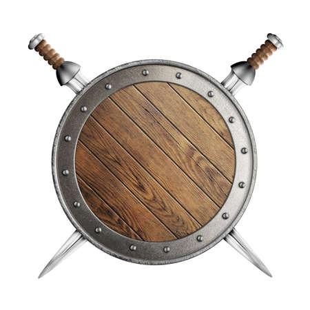 medieval old wooden vikings\ photo