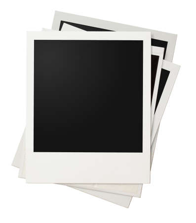 polaroid photo frames isolated on white