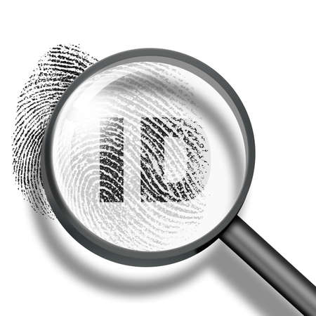 fingerprint ID through magnifying glass photo