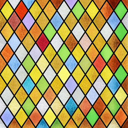 colorful abstract stained glass window pattern background
