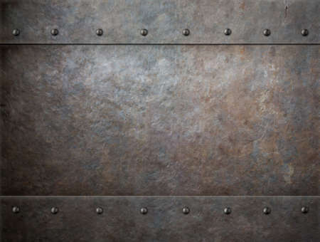 grunge metal with rivets background photo