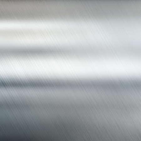 鋼の背景ブラシをかけられた金属のテクスチャ 写真素材
