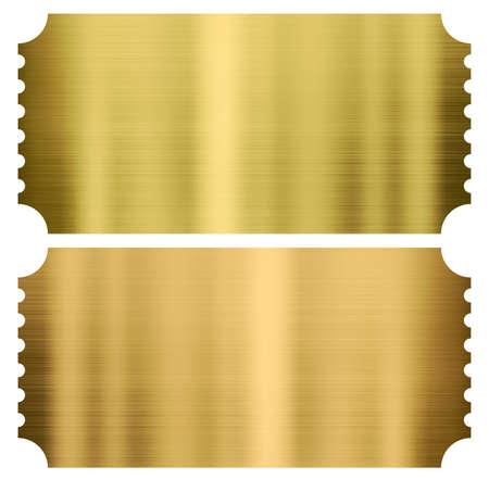 dorado: entradas de cine de oro o Teatro conjunto aislado en blanco