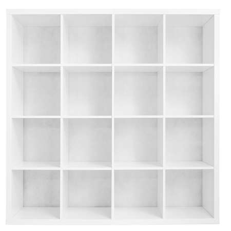 Empty bookshelf or store rack isolated Stockfoto