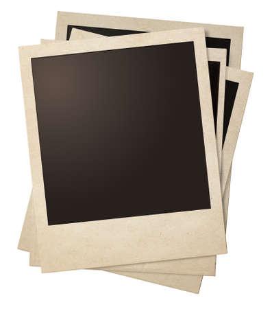 Polaroid retro fotolijsten stapel geïsoleerd op wit Stockfoto - 33426696