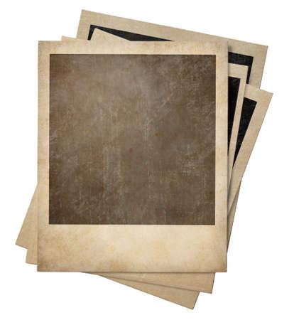 retro photo stack isolated on white photo
